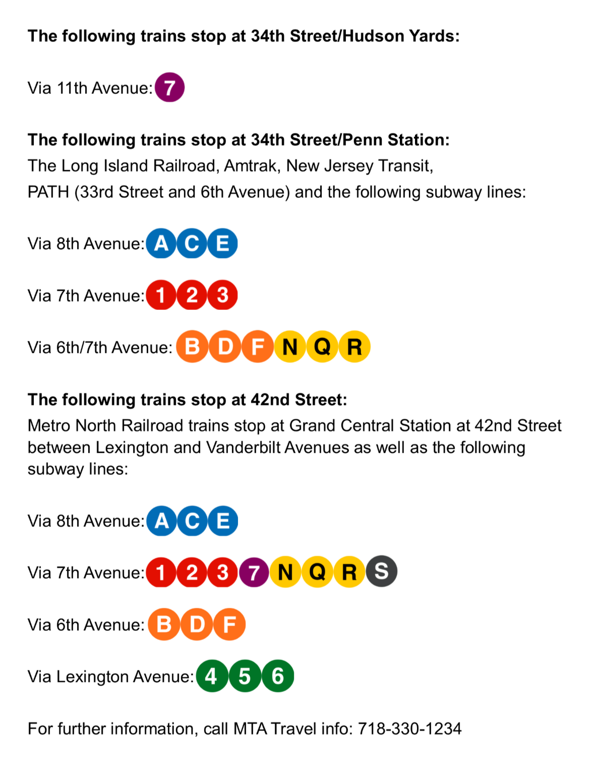 Directions on getting to Javits Center via trains